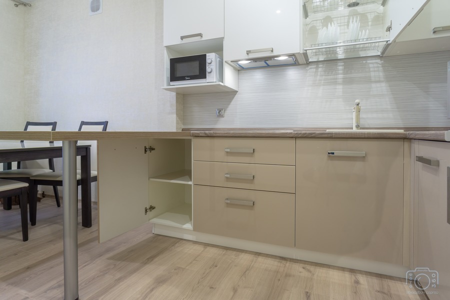 Белый кухонный гарнитур-Кухня из пластика «Модель 1»-фото5