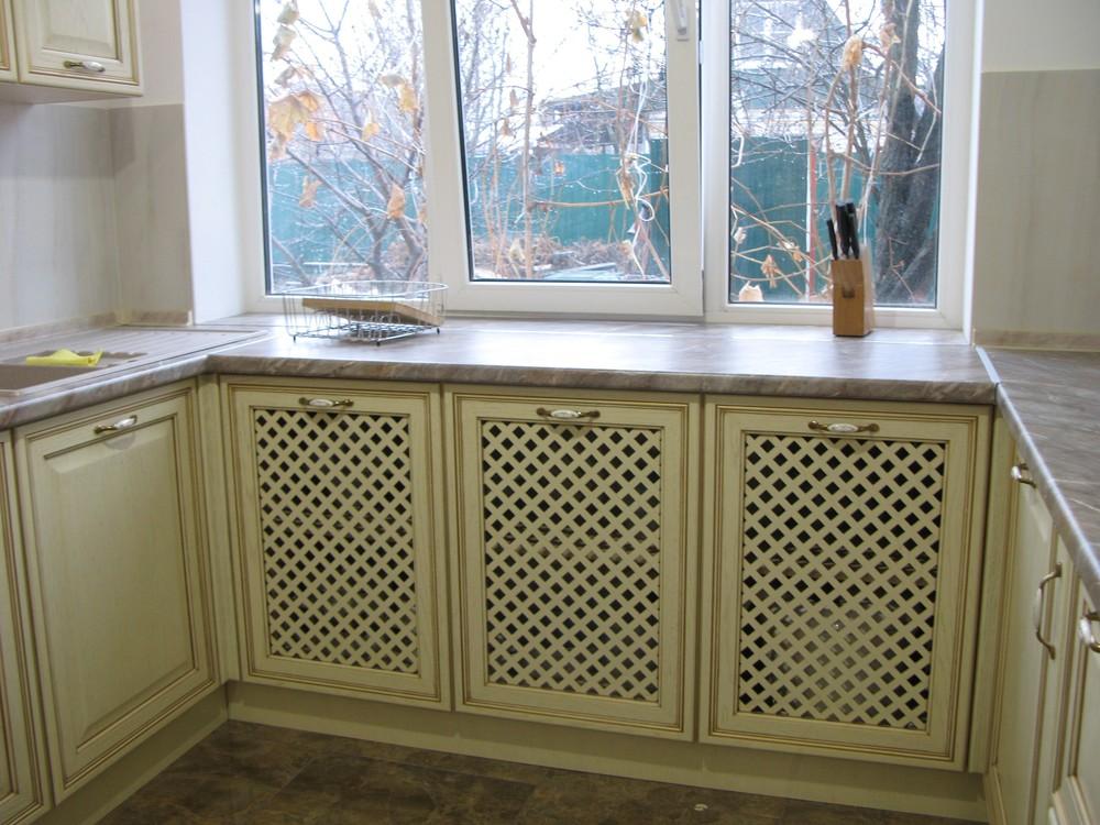 Белый кухонный гарнитур-Кухня МДФ в ПВХ «Модель 273»-фото2