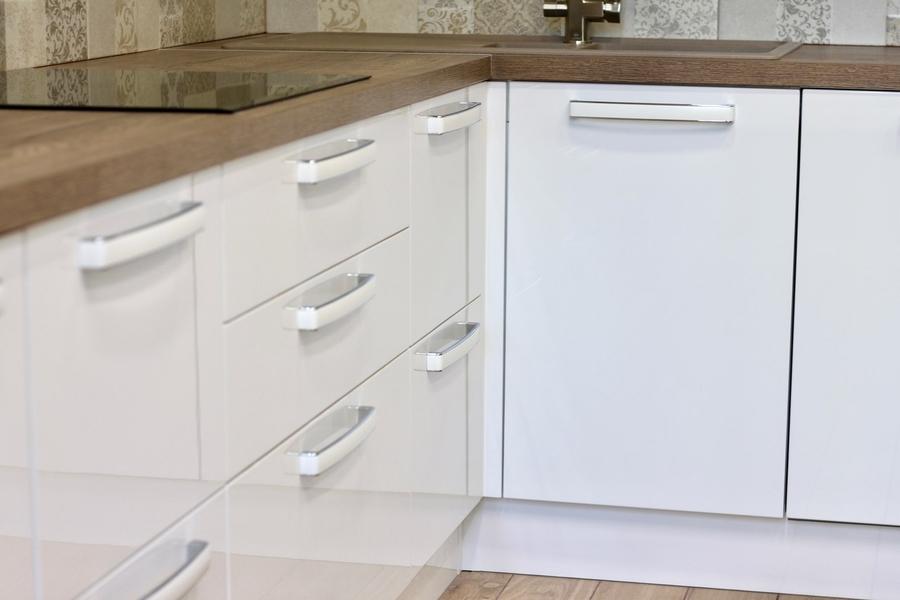Белый кухонный гарнитур-Кухня МДФ в эмали «Модель 289»-фото6