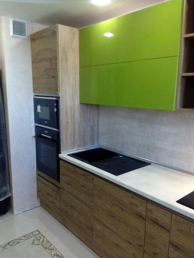 Встроенная кухня-Кухня из пластика «Модель 379»-фото2