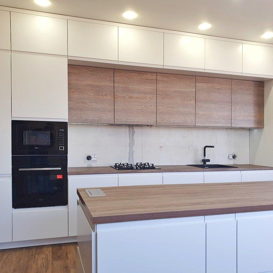 Белый кухонный гарнитур-Кухня МДФ в эмали «Модель 545»-фото4