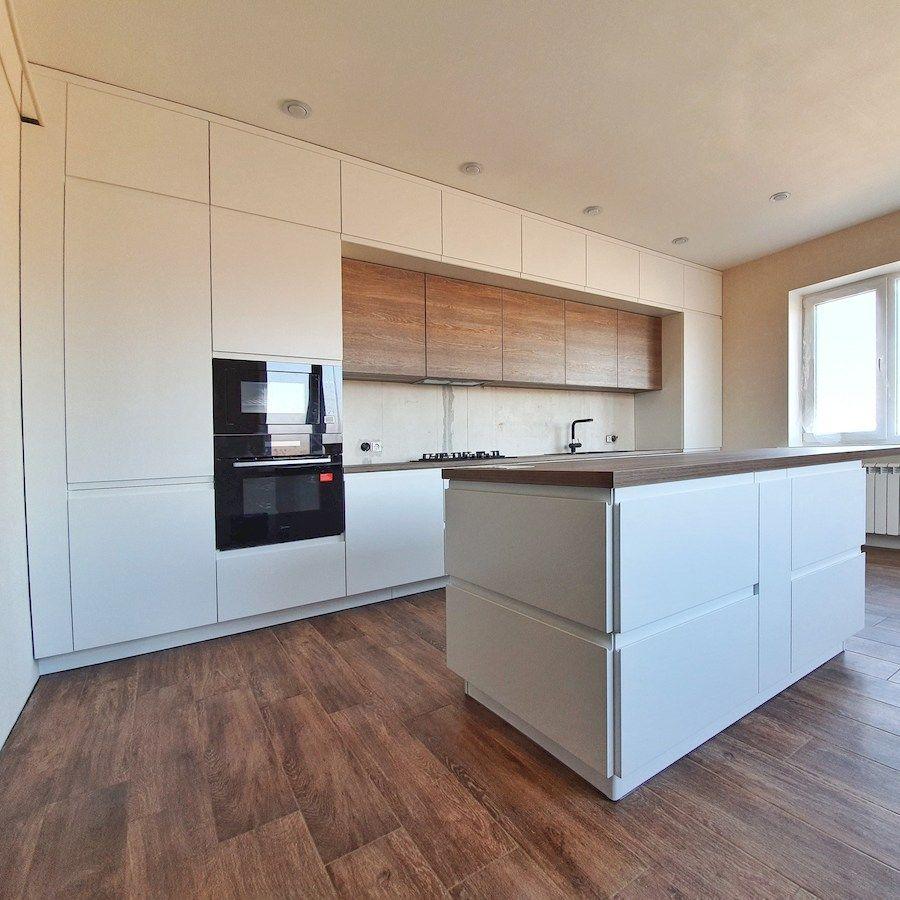 Белый кухонный гарнитур-Кухня МДФ в эмали «Модель 545»-фото2
