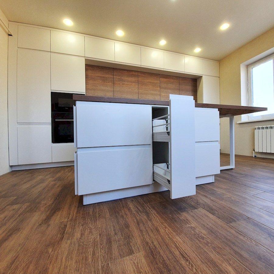 Белый кухонный гарнитур-Кухня МДФ в эмали «Модель 545»-фото8