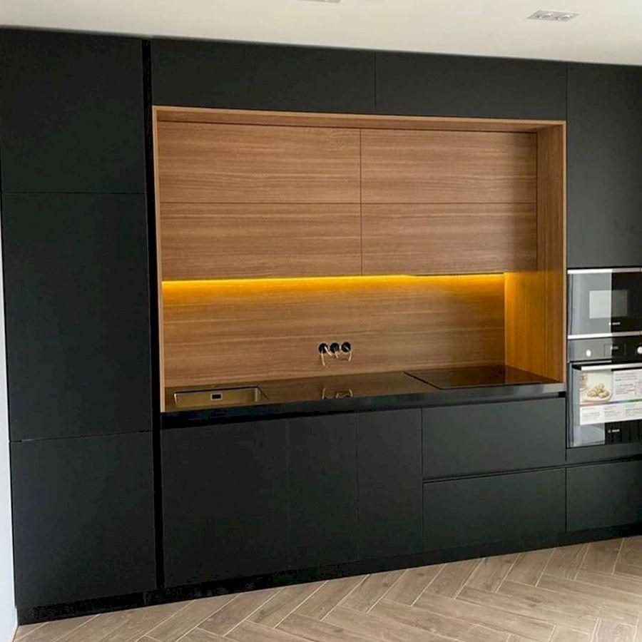 Высокие кухни под потолок-Кухня из пластика «Модель 675»-фото2