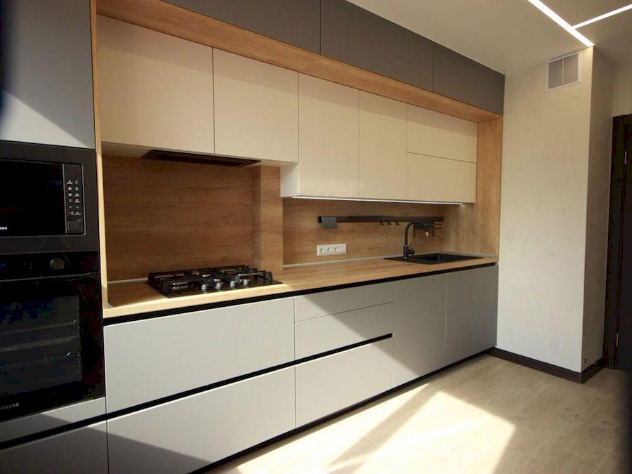 Встроенная кухня-Кухня МДФ в эмали «Модель 662»-фото2