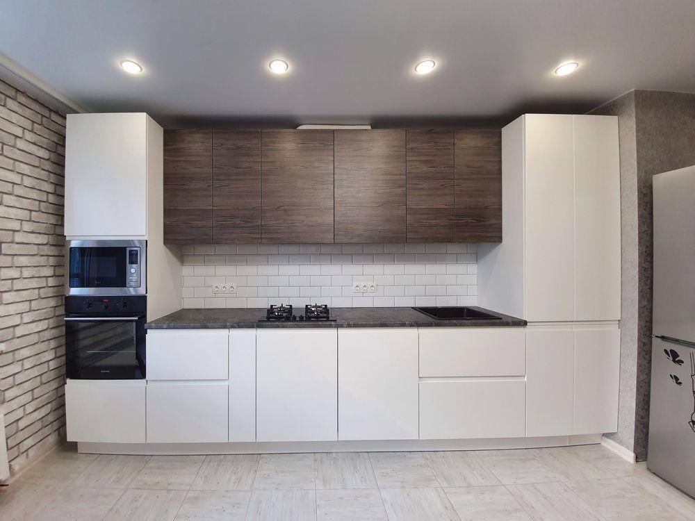 Белый кухонный гарнитур-Кухня МДФ в эмали «Модель 541»-фото3