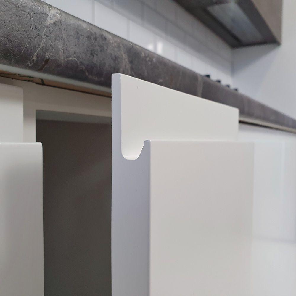 Белый кухонный гарнитур-Кухня МДФ в эмали «Модель 541»-фото11
