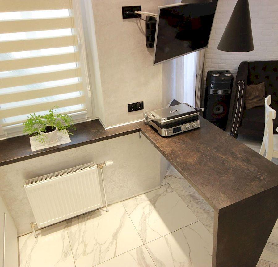 Белый кухонный гарнитур-Кухня МДФ в ПВХ «Модель 660»-фото7