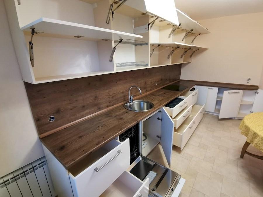 Белый кухонный гарнитур-Кухня МДФ в ПВХ «Модель 579»-фото6