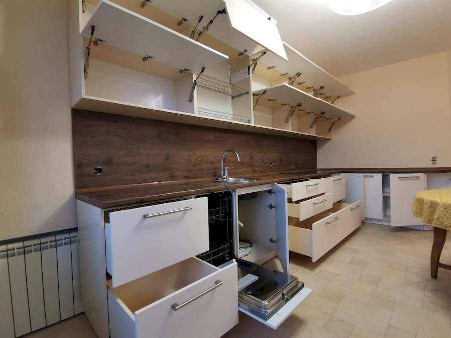 Белый кухонный гарнитур-Кухня МДФ в ПВХ «Модель 579»-фото5