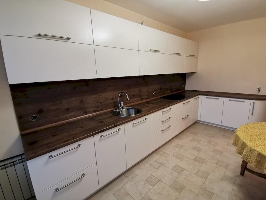 Белый кухонный гарнитур-Кухня МДФ в ПВХ «Модель 579»-фото2
