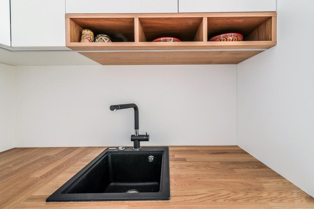 Белый кухонный гарнитур-Кухня МДФ в эмали «Модель 607»-фото5