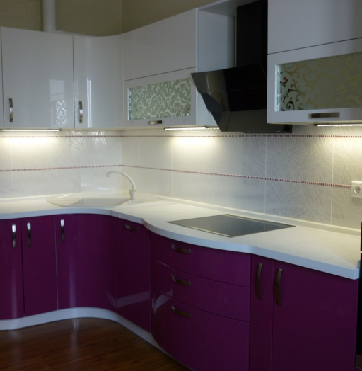 Встроенная кухня-Кухня МДФ в эмали «Модель 237»-фото6