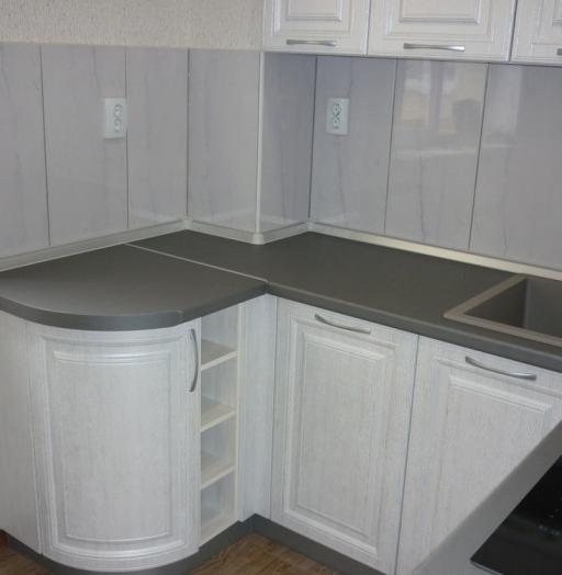 Белый кухонный гарнитур-Кухня МДФ в ПВХ «Модель 249»-фото5
