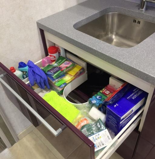 Акриловые кухни-Кухня из пластика «Модель 110»-фото17