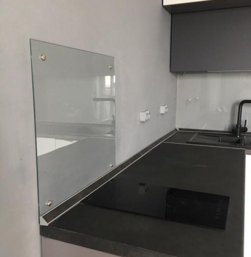 Белый кухонный гарнитур-Кухня из пластика «Модель 364»-фото5