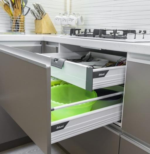 Белый кухонный гарнитур-Кухня МДФ в ПВХ «Модель 9»-фото14