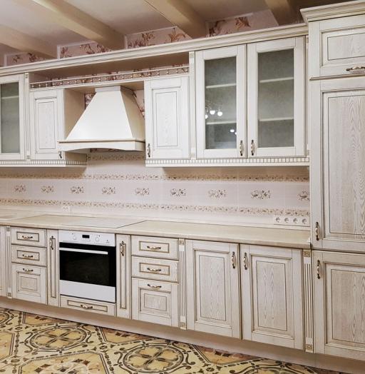 Белый кухонный гарнитур-Кухня из массива «Модель 174»-фото3