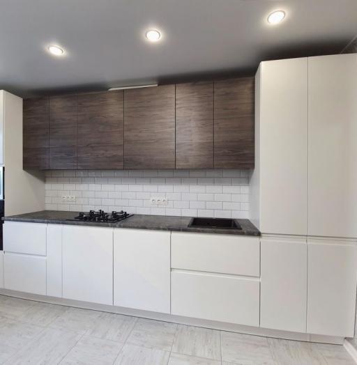 Белый кухонный гарнитур-Кухня МДФ в эмали «Модель 541»-фото12