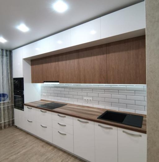 Белый кухонный гарнитур-Кухня МДФ в ПВХ «Модель 577»-фото8